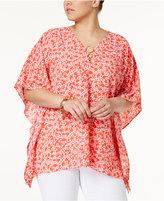 MICHAEL Michael Kors Size Embellished Poncho Top