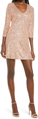 Lulus All Nighter Sequin Shift Dress