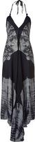L'Agence LAgence Black/Grey Halter-Neck Scarf Dress