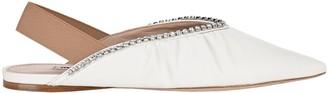 Miu Miu Slingback Embellished Ballerina Flats