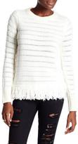 Topshop Fringe Crewneck Sweater