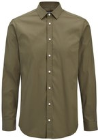 Poplin Stretch Jim Shirt In Khaki