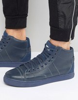 G Star G-Star Stanton High Sneakers In Navy