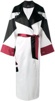 Misbhv - colour block trench coat - women - Polyester/Spandex/Elastane/Acetate - S