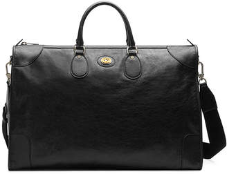 Gucci Men's Leather Weekender Duffel Bag