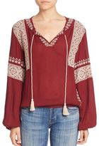 Tularosa Shane Embroidered Peasant Blouse