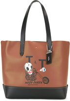 Coach skull print saddle tote - men - Leather - One Size