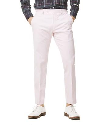 Todd Snyder White Label Fine Corded Cotton Stripe Sutton Suit Trouser in Pink