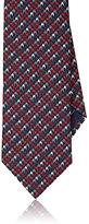 Brioni Men's Houndstooth Check Silk Tie-RED