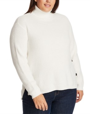 1 STATE 1.State 1.state Trendy Plus Size High-Low Turtleneck Sweater