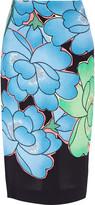 Marni Floral-print crepe skirt