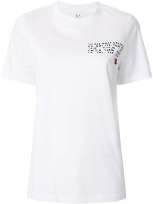 CK Calvin Klein logo slogan T-shirt