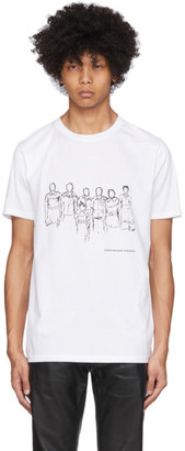 Eastwood Danso SSENSE Exclusive White and Black Graphic Print T-Shirt