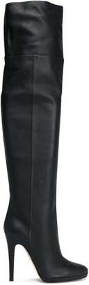 Jimmy Choo Giselle Pebbled-leather Over-the-knee Platform Boots