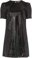 Dorothy Perkins Petite Black Velvet Shift Dress