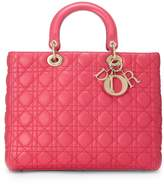 Christian Dior Pink Cannage Lambskin Lady Large