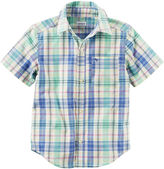 Carter's Ps Girl Top Short Sleeve Button-Front Shirt Boys