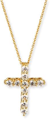 Roberto Coin 18k Small Diamond Cross Necklace