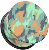 "Inspiration Dezigns Camouflage Acrylic Single Flared Plugs *Sold as Pairs* (3/4"")"