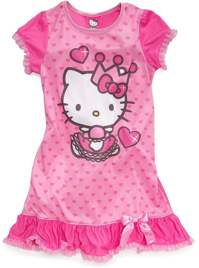 Hello Kitty AME Kids Pajamas, Little Girls or Toddler Girls Nightgown