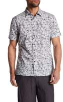 Perry Ellis Short Sleeve Stucco Print Regular Fit Shirt