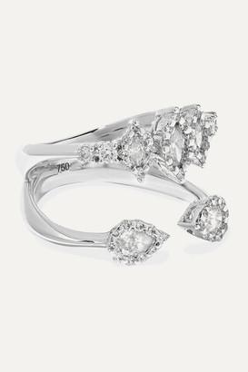 YEPREM 18-karat White Gold Diamond Ring - 6 1/2