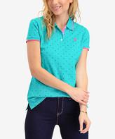 U.S. Polo Assn. Women's Polo Shirts ASTRAL - Astral Turquoise Pin Dot Polo - Women