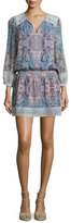 Joie Aidee Printed Silk Dress, Blue