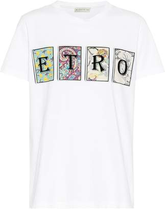 Etro Logo cotton T-shirt