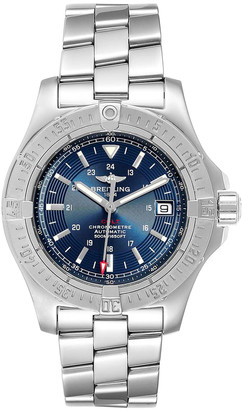 Breitling Blue Stainless Steel Colt A17380 Men's Wristwatch 41 MM