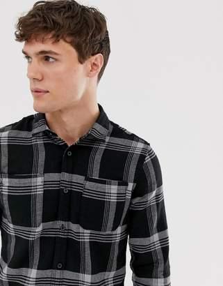 ONLY & SONS plaid check shirt-Green