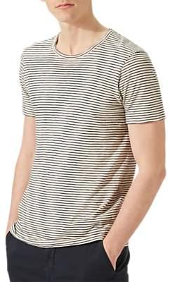 Jigsaw Fine Stripe Short Sleeve Slub T-Shirt
