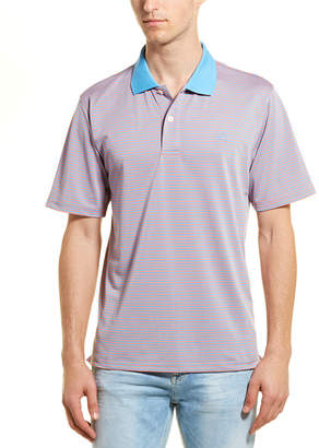 Southern Tide T3 Tide To Trail Fort Frederik Striped Performance Polo