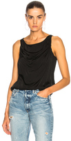 Raquel Allegra Drape Tank in Black.