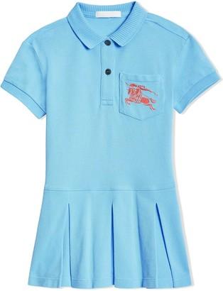 BURBERRY KIDS EKD Logo Cotton Polo Dress