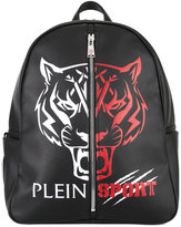 Plein Sport - logo print backpack - men - Polyester/Polyurethane - One Size