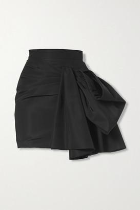 Carolina Herrera Bow-embellished Silk-faille Mini Skirt - Black