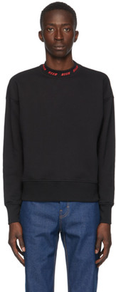 MSGM Black Collar Logo Sweatshirt
