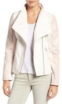 GUESS Women's Asymmetrical Faux Leather Jacket