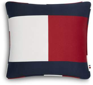 "Tommy Hilfiger Flag Decorative Pillow, 18"" x 18"""