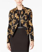 Thalia Sodi Chain-Print Cropped Blazer, Only at Macy's