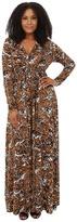 Rachel Pally Plus Plus Size Long Sleeve Full Length Caftan White Label Print