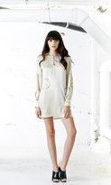 Again Collection - Cartier Silk Tunic in Neutral, Print
