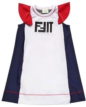 Fendi 10y Girls Fit Sport Dress Multicolor