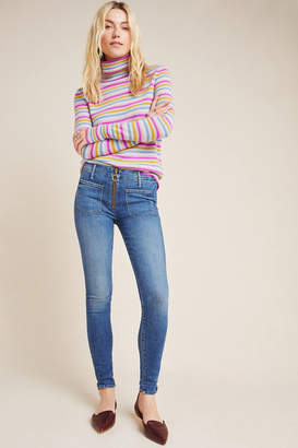 Mother The Looker Patch XYZ High-Rise Skinny Jeans