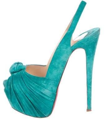 5851b54c3a Turquoise Slingback Heels - ShopStyle