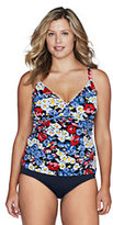 Classic Women's Plus Size Seaside Resort Daisy Tankini Top Navy Stripe Reversible