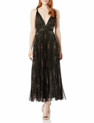 Jill Stuart Jill Women's Glitter Polka Dot Pleated Tulle Gown