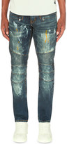 EMBELLISH Paint splattered mid-rise denim jeans