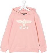 Boy London Eagle print hoodie - kids - Cotton/Spandex/Elastane - 5 yrs
